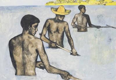 John Minton (1917-1957)Raking Seaweed -