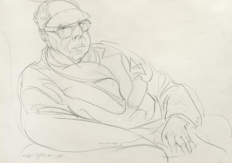Michael Ayrton (1921-1975), Portrait of Percy Wyndham Lewis