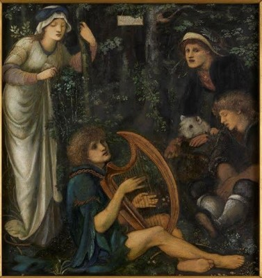Sir Edward Coley Burne-Jones, ARA (1833-1898)The Madness of Sir Tristram -