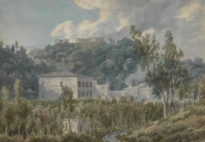 John  Robert Cozens (1752-1797)In the Valley near Vietri -
