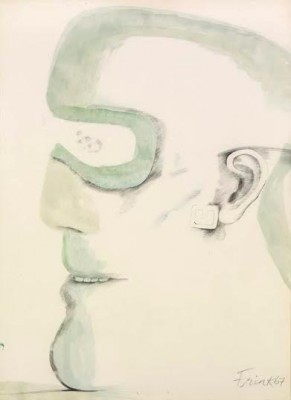 Dame Elisabeth Frink, CH RA (1930-1993)Goggle Head -