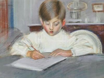 Paul-César Helleu (1859-1927)Leҫon de dessin -