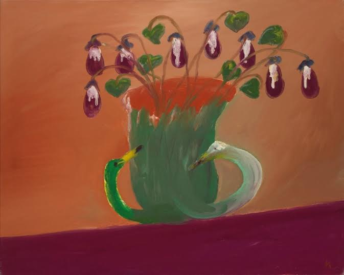 Sir Sidney Nolan, OM AC RA (1917-1992), Flowers in a Merric Boyd Vase