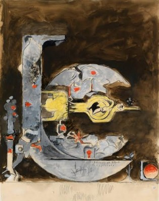 Graham Sutherland, OM (1903-1980)Untitled (Rock Form with Bird) -