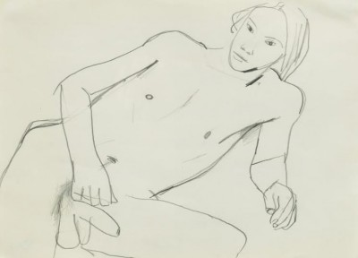 Keith Vaughan (1912-1977)Reclining Male Nude -