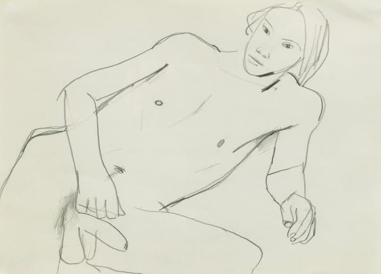 Keith Vaughan (1912-1977), Reclining Male Nude
