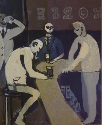 Keith Vaughan (1912-1977)Study for The Bar -