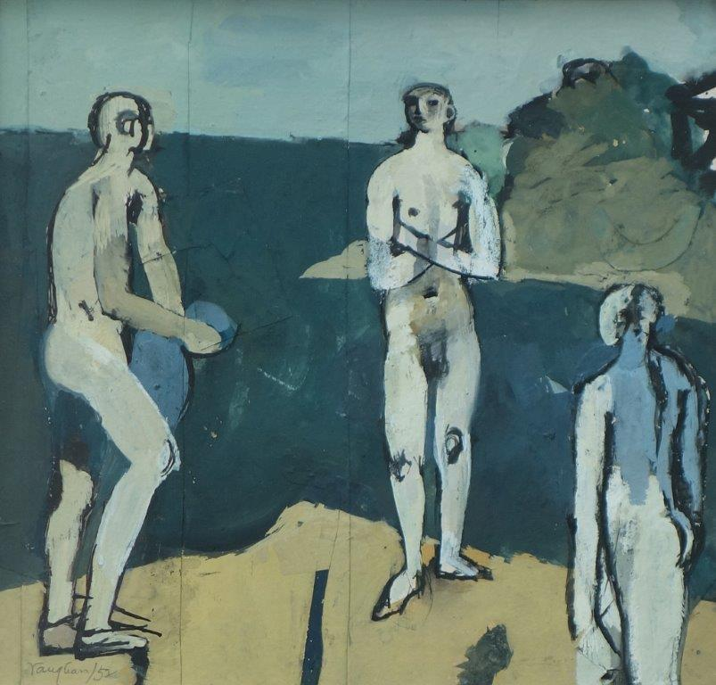 Keith Vaughan (1912-1977), Study for the Fourth Assembly of Figures (Transfiguration Group)