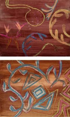 Sir Sidney Nolan, OM AC RA (1917-1992)Designs for silk floor cloths for 'Samson et Dalila' -