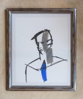 Keith Vaughan (1912-1977)Head of a Man looking down -