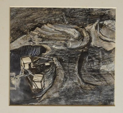Graham Sutherland, OM (1903-1980)Limestone Quarry, Worked Terraces -