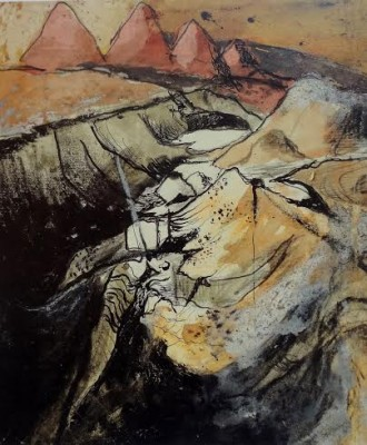 Graham Sutherland, OM (1903-1980)Open Cast Coal Production -