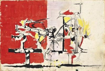 Graham Sutherland, OM (1903-1980)Thorn Trees -