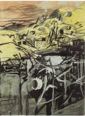 Graham Sutherland, OM (1903-1980)Wreckage of the Flying Bomb Site at St.-Leu-d'Esserent, France -