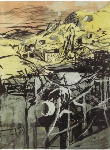 Graham Sutherland, OM (1903-1980), Wreckage of the Flying Bomb Site at St.-Leu-d'Esserent, France