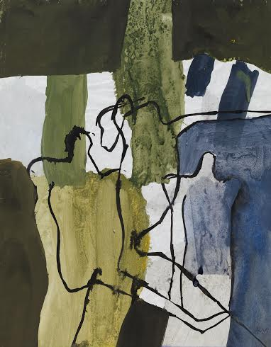 Keith Vaughan (1912-1977), Figures and Trees