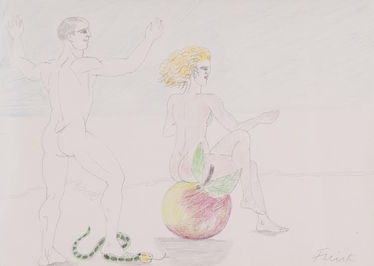 Dame Elisabeth Frink, CH RA (1930-1993), Adam and Eve