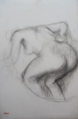 Edgar Degas (1834-1917)Femme nue s'essuyant -