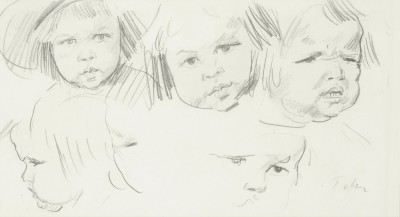 Augustus John, OM RA (1878-1961)Study of Robin with his brothers -