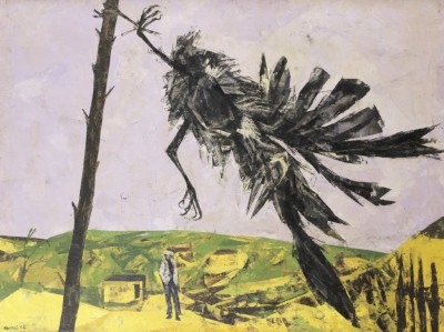 Bryan Kneale RA (b. 1930)Rook in the Wind -