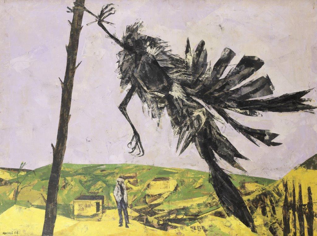 Bryan Kneale RA (b. 1930), Rook in the Wind