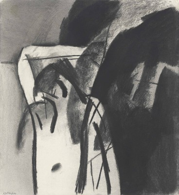 Keith Vaughan (1912-1977)Figure with raised arm -