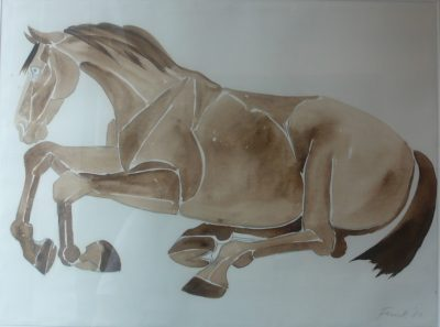 Dame Elisabeth Frink, CH RA (1930-1993)Untitled (Lying down Horse) -