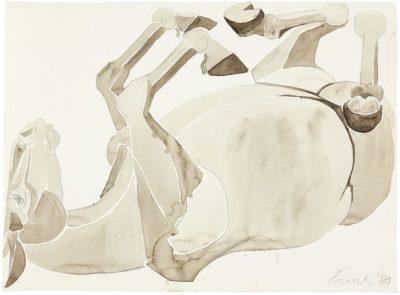 Dame Elisabeth Frink, CH RA (1930-1993)Rolling Over Horse -