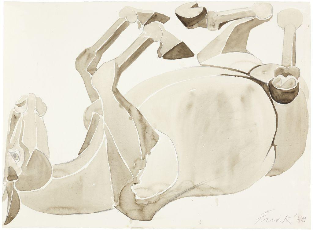 Dame Elisabeth Frink, CH RA (1930-1993), Rolling Over Horse