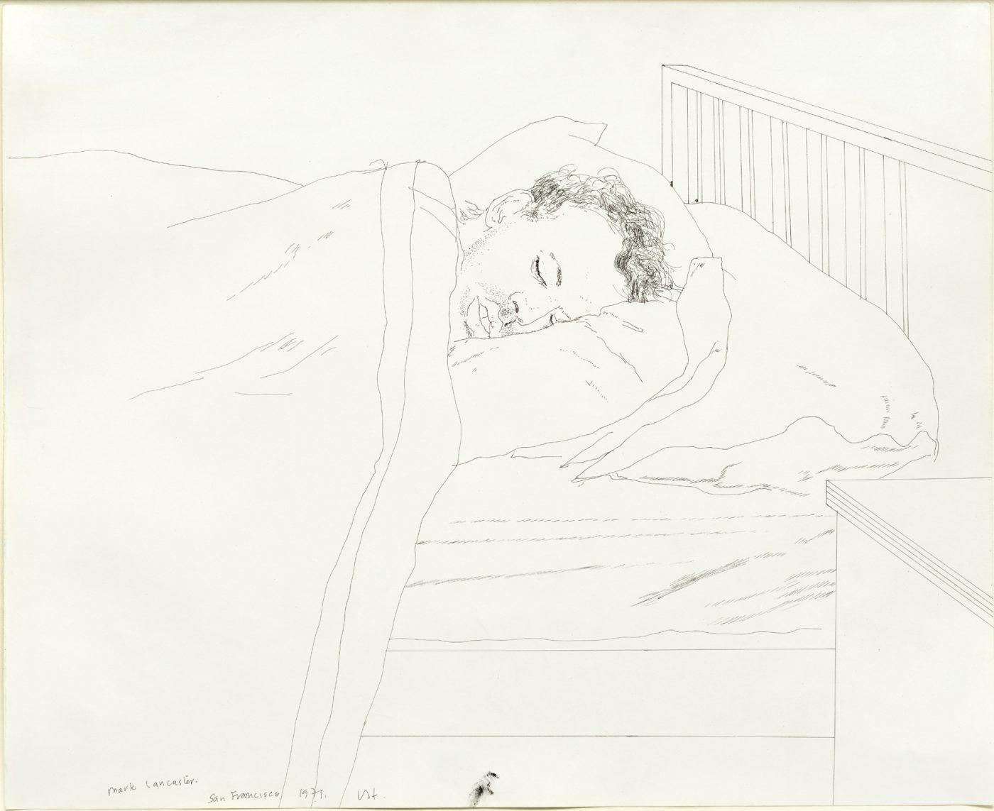 David Hockney, OM CH RA (b. 1937), Mark Lancaster Alseep