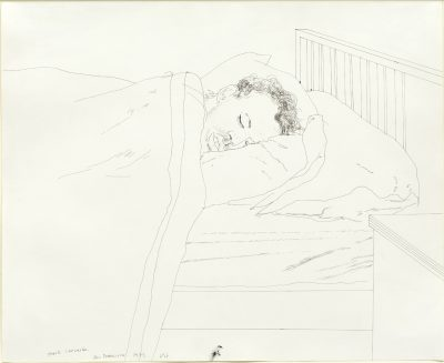 David Hockney, OM CH RA (b. 1937)Mark Lancaster Alseep -