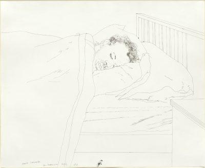 David Hockney, OM CH RA (b. 1937)Mark Lancaster Alseep -
