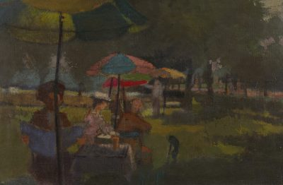 Edward Middleditch RA (1923-1987)People in a Park -