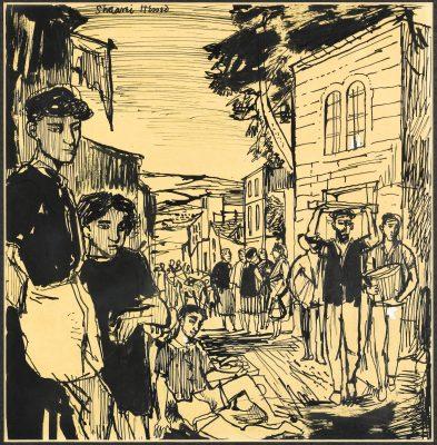 John Minton (1917-1957)Sha'arei Hessed, Jerusalem -