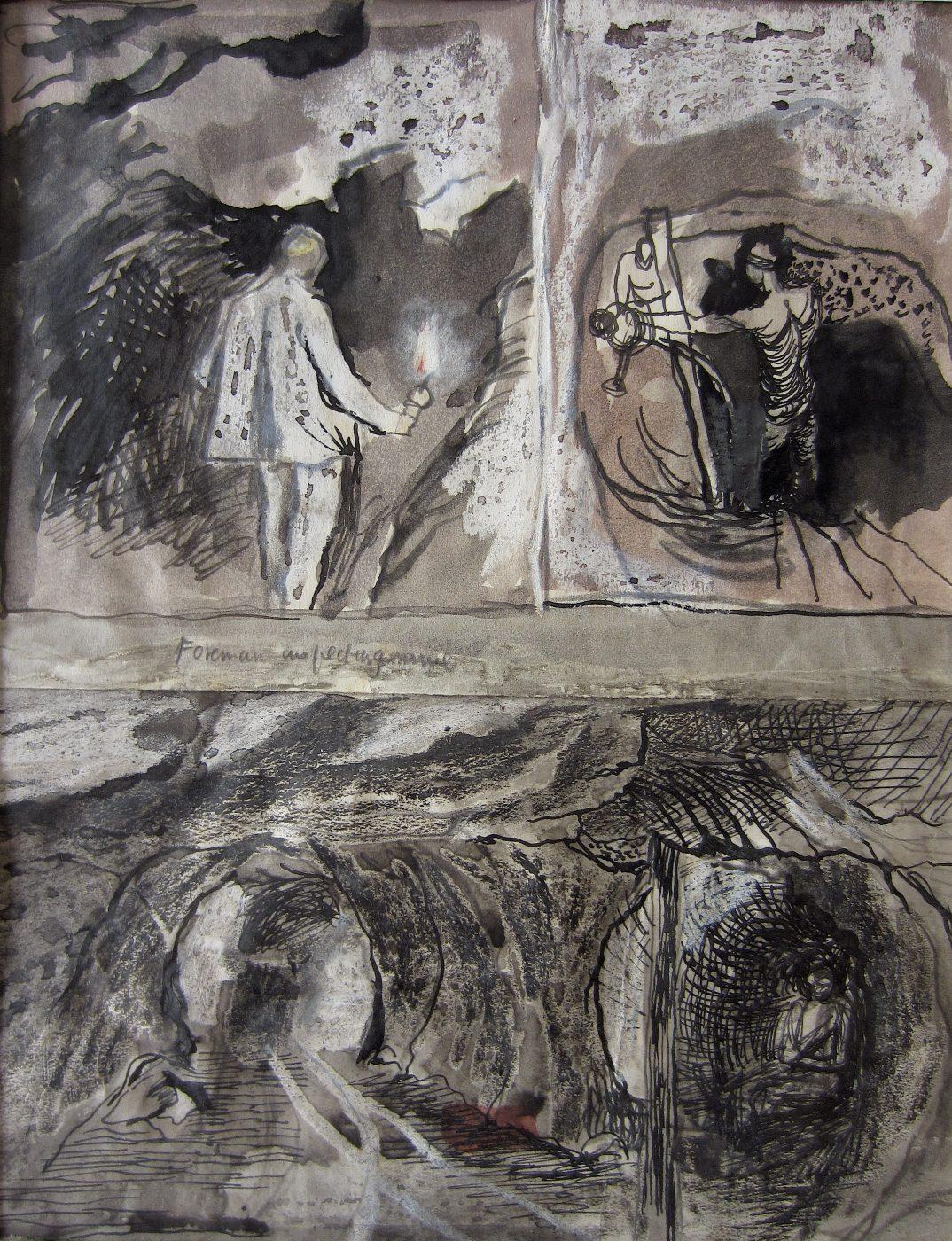 Graham Sutherland, OM (1903-1980), Tin Mine: Three Studies