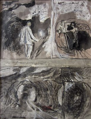 Graham Sutherland, OM (1903-1980)Tin Mine: Three Studies -