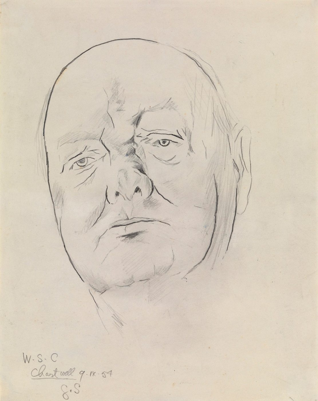 Graham Sutherland, OM (1903-1980), Study of Sir Winston Churchill
