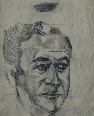 Graham Sutherland, OM (1903-1980)Arthur Jeffress, Study of head facing half right -