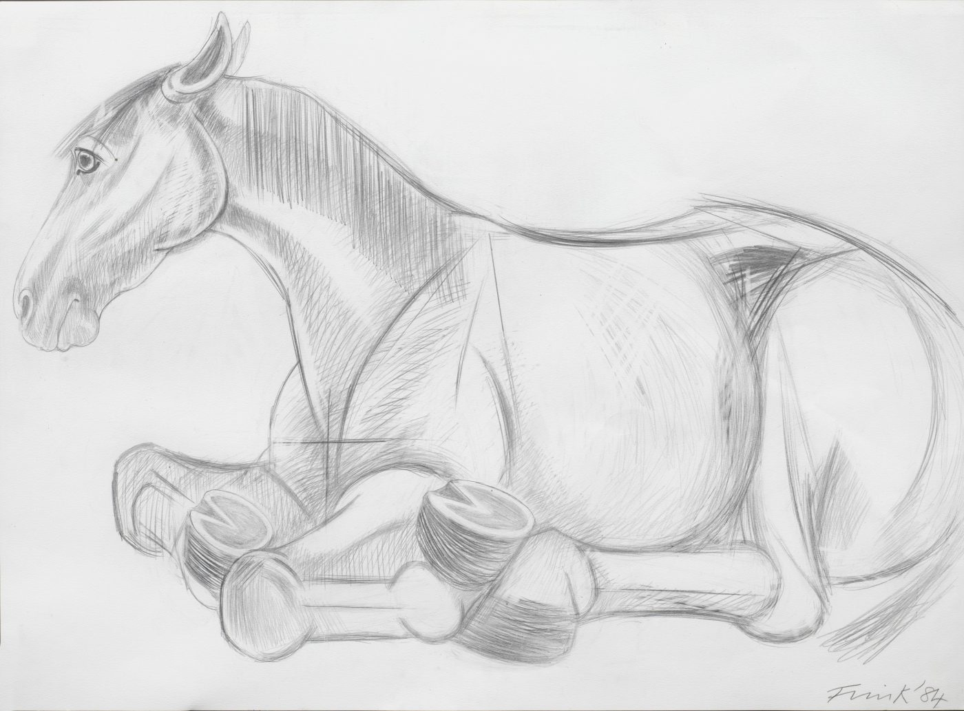 Dame Elisabeth Frink, CH RA (1930-1993), Lying Down Horse