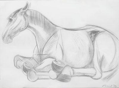 Dame Elisabeth Frink, CH RA (1930-1993)Lying Down Horse -