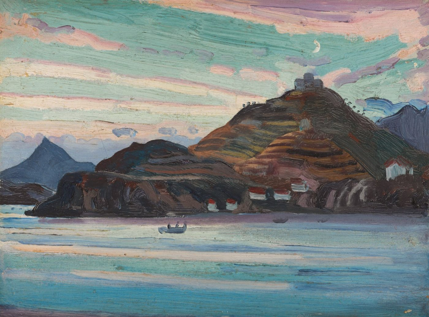James Dickson Innes (1887-1914), The New Moon (Port Vendres)
