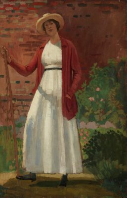 Derwent Lees (1884-1931)Lyndra in the Garden -