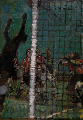 Ruskin Spear, CBE RA (1911-1990)The Football Match - Sold to the National Museum of Football, Manchester -