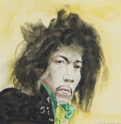 Patrick Procktor, RA (1936-2003)Jimi Hendrix -
