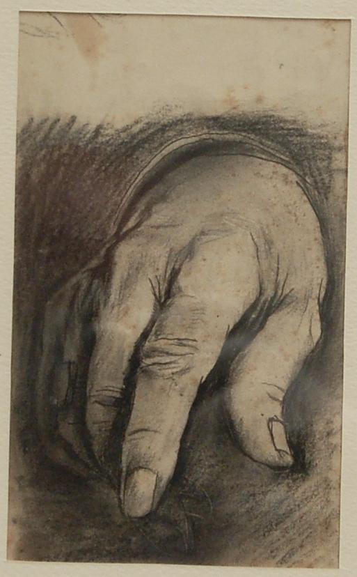 Graham Sutherland, OM (1903-1980), Sir Winston Churchill (study for right hand)