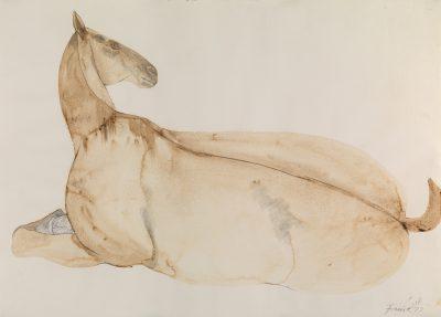 Dame Elisabeth Frink, CH RA (1930-1993)Reclining Horse -
