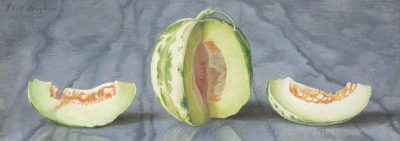 Eliot Hodgkin (1905-1987)Melon on a Marble Slab -