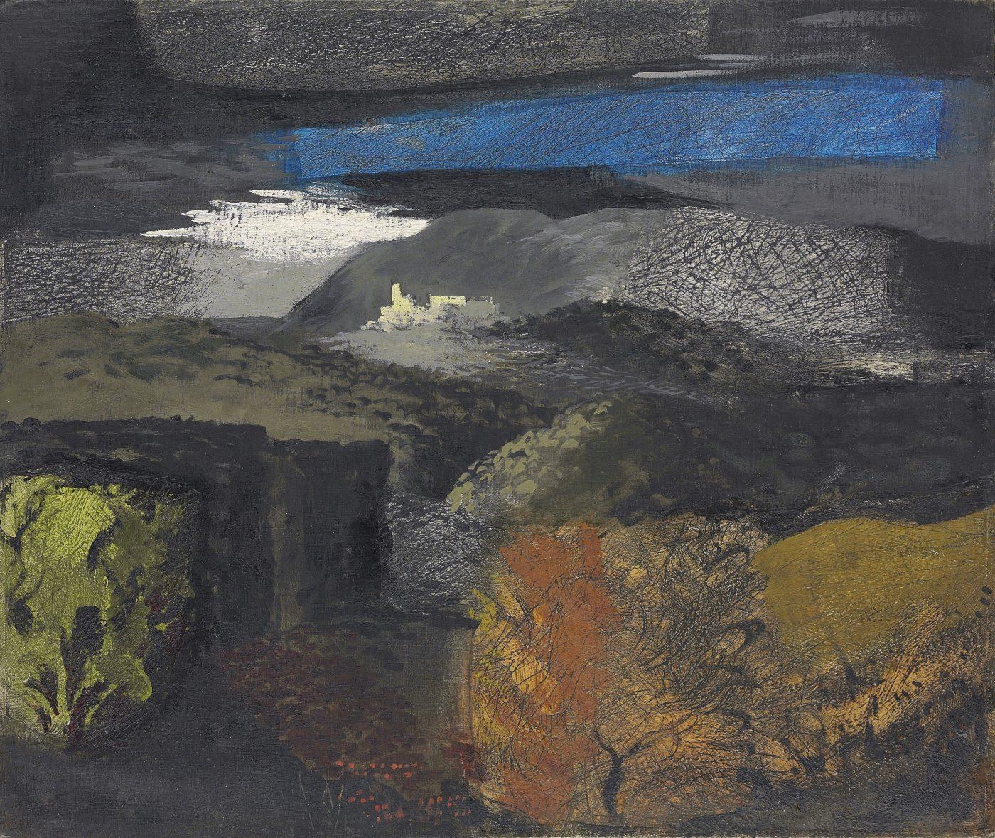 John Piper, CH (1903-1992), Welsh Landscape, Denbigh
