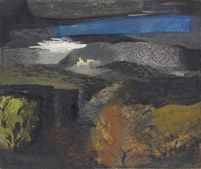 John Piper, CH (1903-1992)Welsh Landscape, Denbigh -