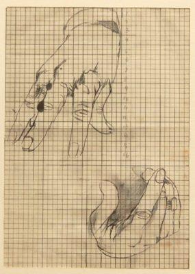 Graham Sutherland, OM (1903-1980)Sir Winston Churchill (studies for the right hand) -